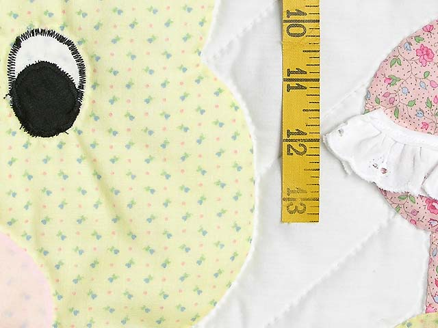 Pastel Pink and Blue Bunny Crib Quilt Photo 4