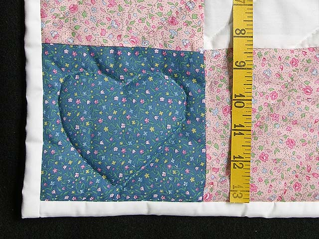 Pastel Pink and Blue Bunny Crib Quilt Photo 5