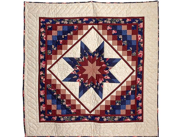 Navy Blue and Burgundy Lone Star Trip Wall Hanging Photo 1