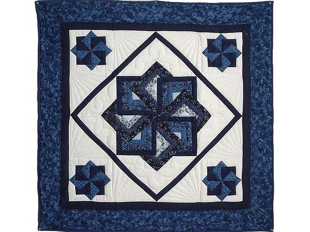 Navy and Blue Star Spin Wall Hanging Photo 1