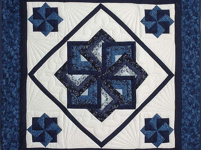 Navy And Blue Star Spin Wall Hanging Photo 2