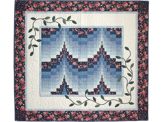 Blue and Rose Twin Peaks Bargello Wall Hanging Photo 1