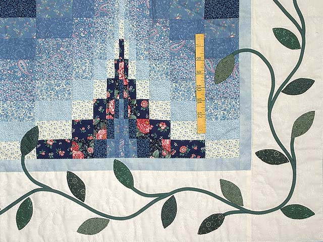 Blue and Rose Twin Peaks Bargello Wall Hanging Photo 3