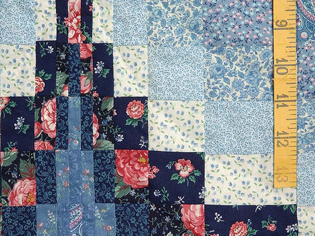 Blue and Rose Twin Peaks Bargello Wall Hanging Photo 4