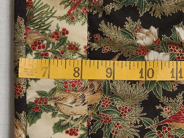 Gold and Black Christmas Cardinals Applique Wall Hanging Photo 5