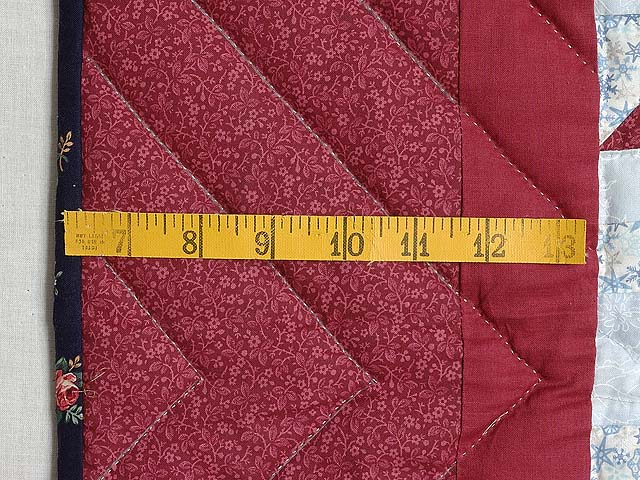 Burgundy Tulip Time Patchwork Wall Hanging Photo 5