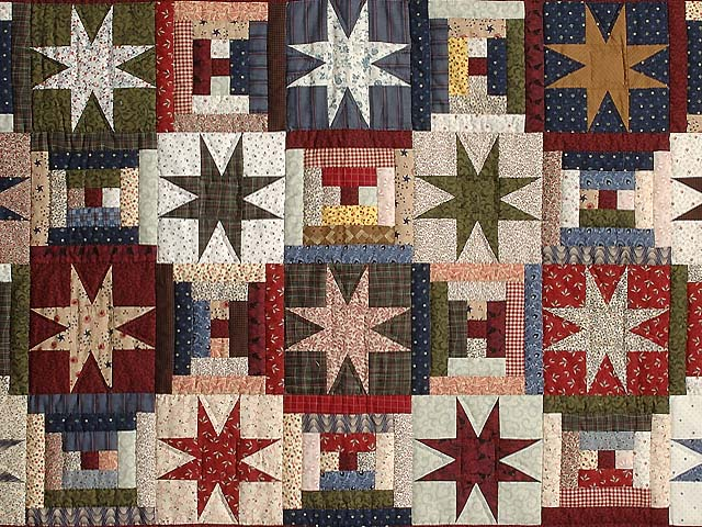 Navy Burgundy and Multicolor Court Step Stars Throw Photo 2
