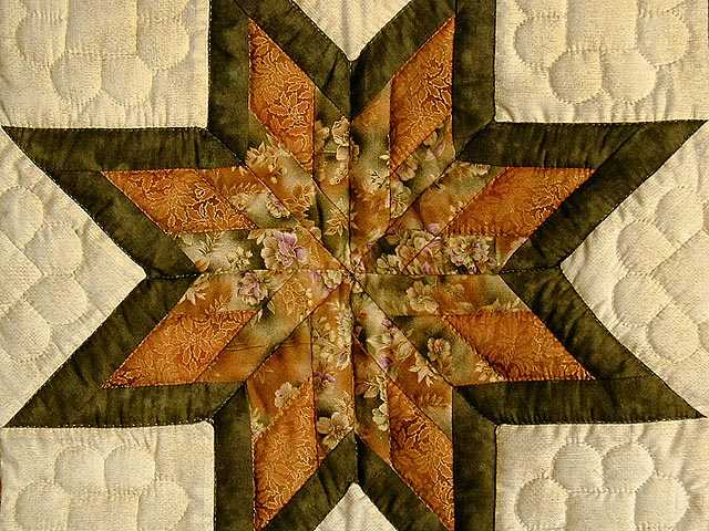 Gold and Green Broken Star Wall Hanging Photo 3