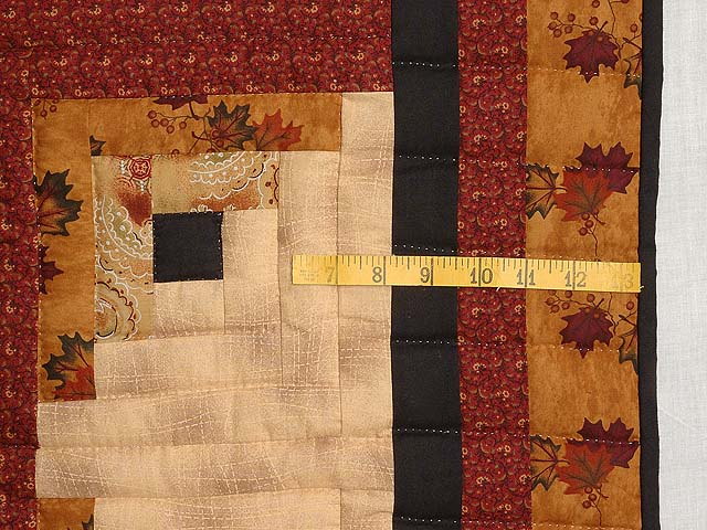 Burgundy and Tan Howling Wolf Log Cabin Crib Quilt Photo 4