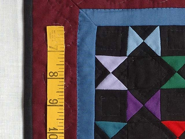 Mini Burgundy and Blue Bow Ties Quilt Photo 3