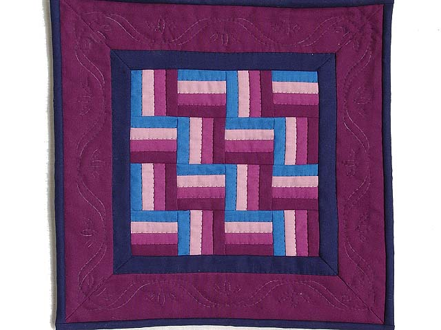Miniature Amish Rail Fence Quilt Photo 1