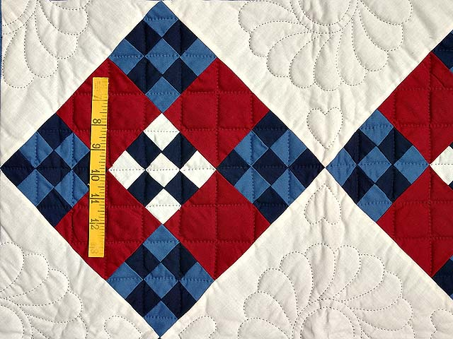 Amish Red White and Blue Nine Patch Wall Hanging Photo 3