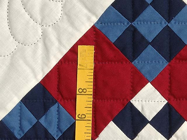 Amish Red White and Blue Nine Patch Wall Hanging Photo 4