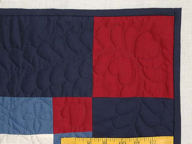 Amish Red White and Blue Nine Patch Wall Hanging Photo 5