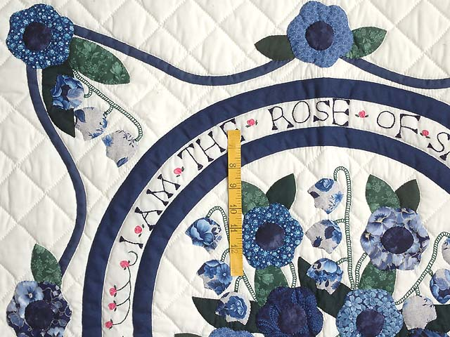 Blue and Navy Rose of Sharon Wall Hanging Photo 4