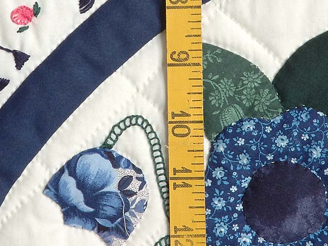 Blue and Navy Rose of Sharon Wall Hanging Photo 6