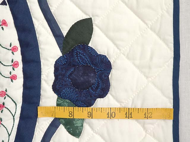 Blue and Navy Rose of Sharon Wall Hanging Photo 7