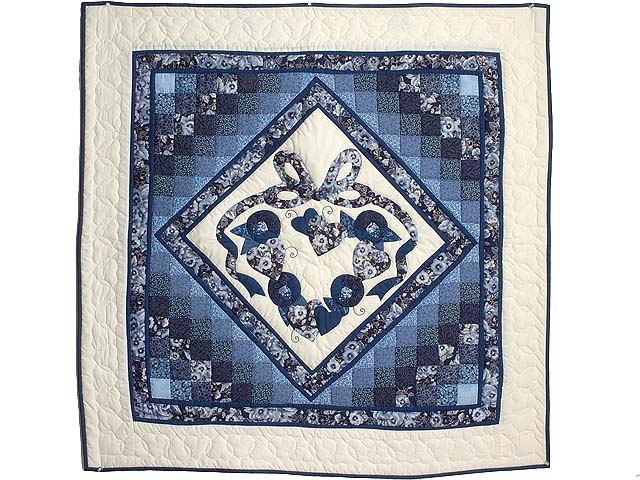 Blue Navy and Cream Country Love Trip Wall Hanging Photo 1