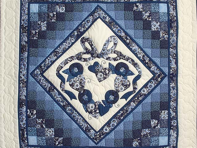 Blue Navy and Cream Country Love Trip Wall Hanging Photo 2