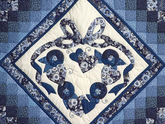 Blue Navy and Cream Country Love Trip Wall Hanging Photo 3