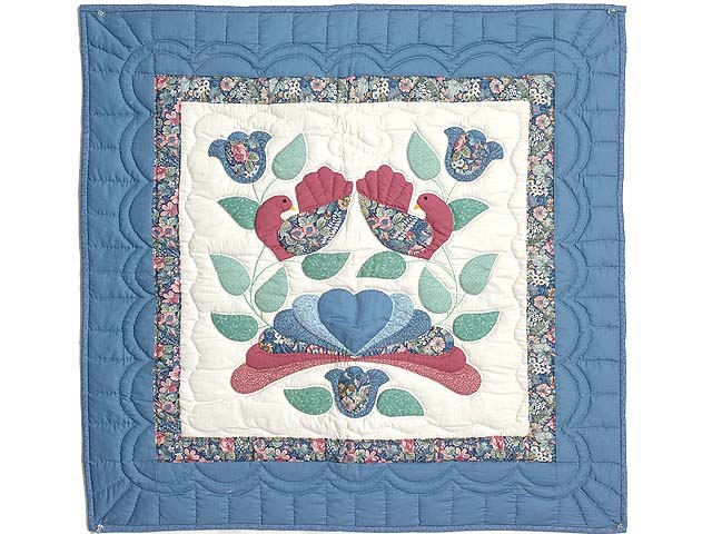 Blue and Rose Country Bride Wall Hanging Photo 1