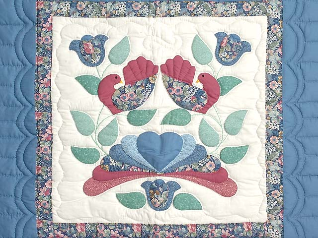 Blue and Rose Country Bride Wall Hanging Photo 2