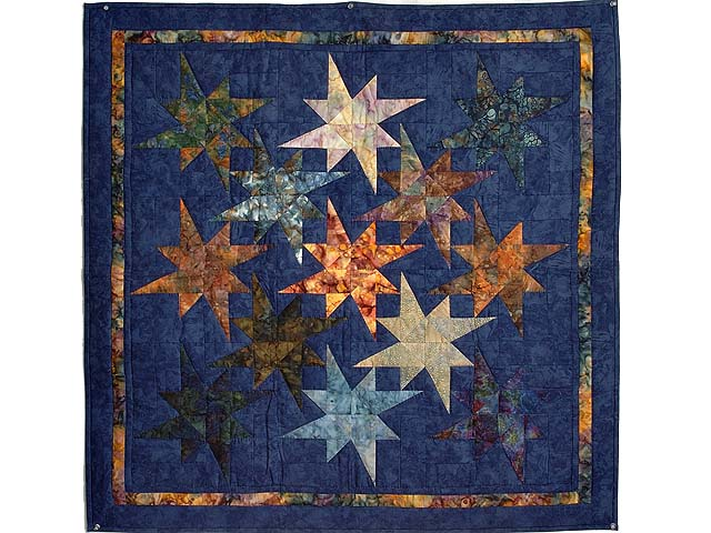 Hand Painted Navy Star Bright Wall Hanging Photo 1