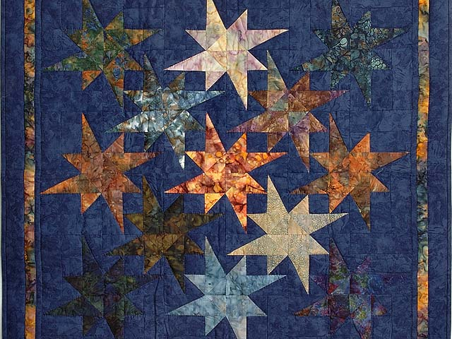 Hand Painted Navy Star Bright Wall Hanging Photo 2