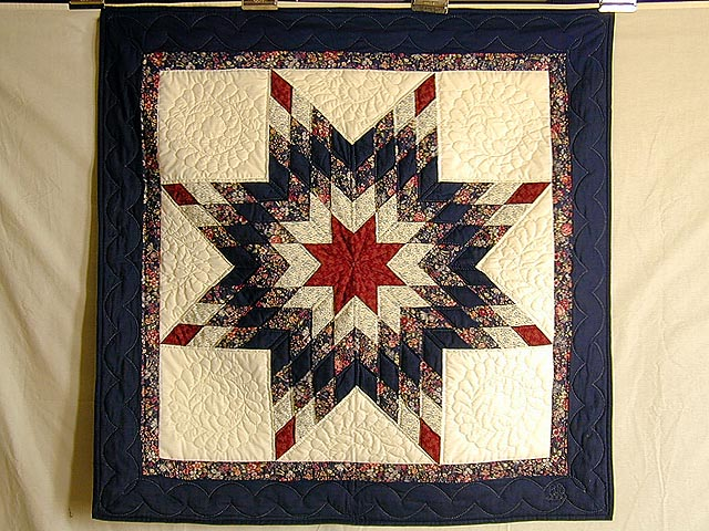 Navy and Red Lone Star Wall Hanging Photo 1