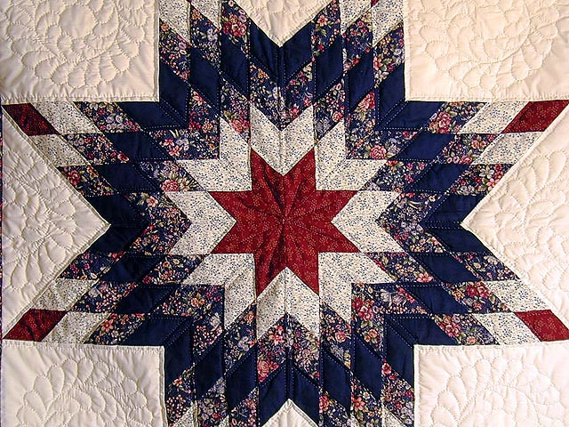 Navy and Red Lone Star Wall Hanging Photo 2