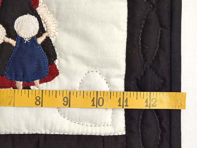 Amish Girl with Doll Nine Patch Crib Quilt Photo 5