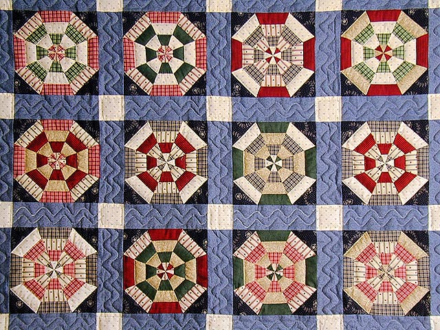 Blue and Multicolor Serendipity Crib Quilt Photo 2