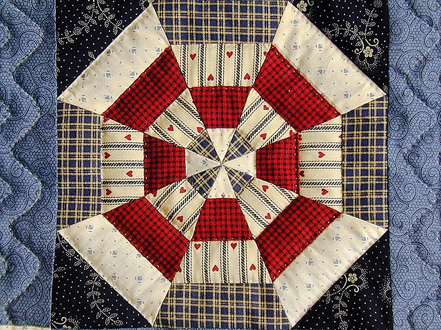 Blue and Multicolor Serendipity Crib Quilt Photo 3