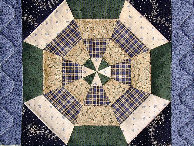 Blue and Multicolor Serendipity Crib Quilt Photo 5