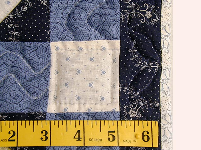 Blue and Multicolor Serendipity Crib Quilt Photo 6