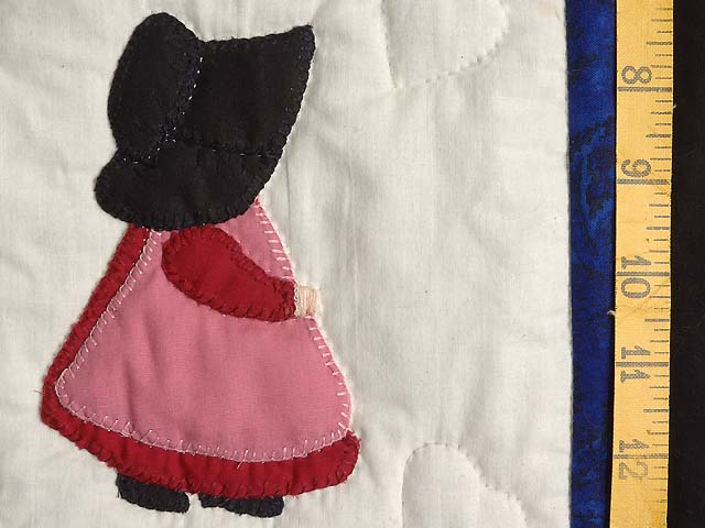 Amish Children Nine Patch Crib Quilt Photo 4