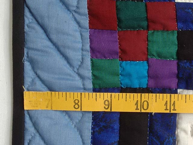 Amish Children Nine Patch Crib Quilt Photo 5