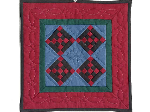 Miniature Amish Nine Patch Diamond Quilt Photo 1