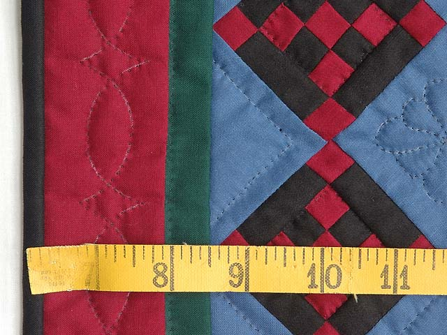 Miniature Amish Nine Patch Diamond Quilt Photo 3