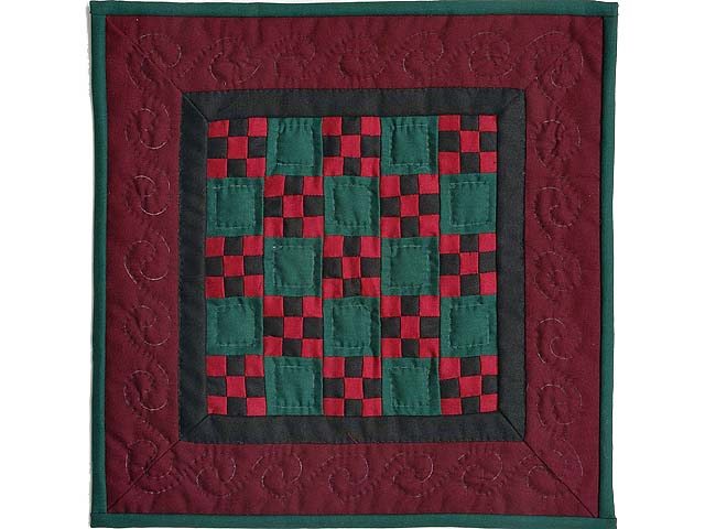 Miniature Amish Nine Patch Quilt Photo 1
