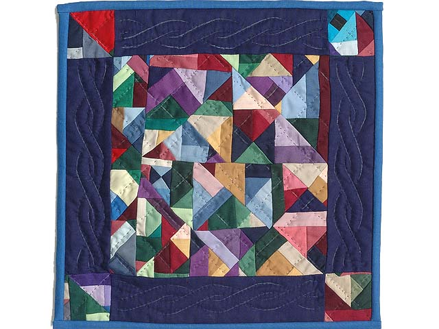 Miniature Almost Amish Crazy Quilt Photo 1