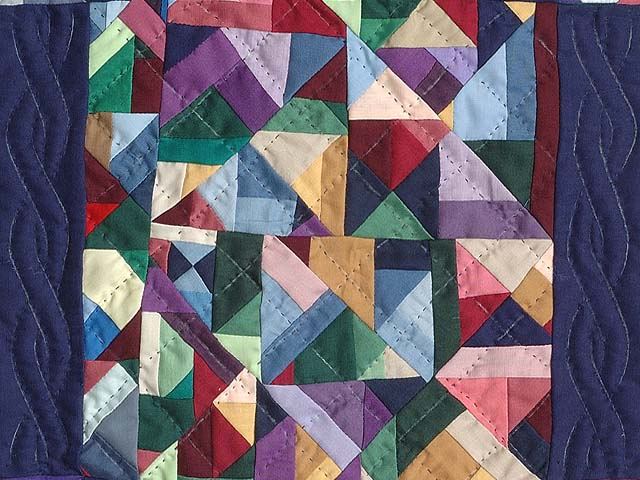 Miniature Almost Amish Crazy Quilt Photo 2