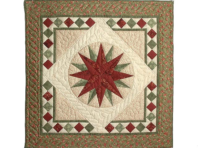 Sage and Brick Compass Star Wall Hanging Photo 1