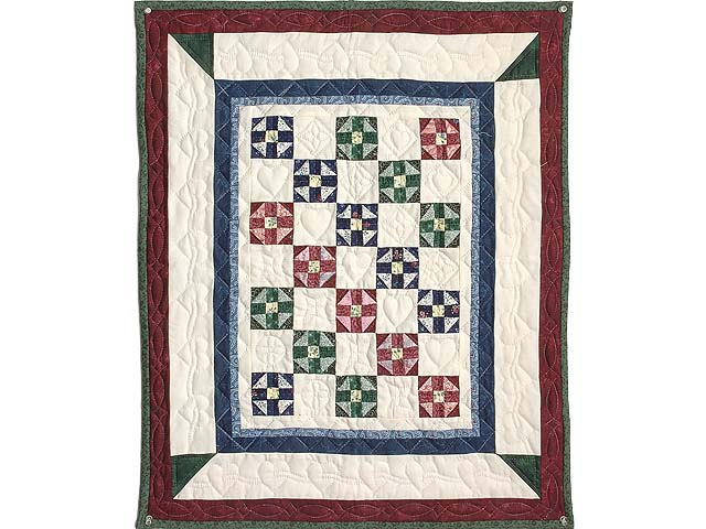 Burgundy and Multicolor Shoo Fly Wall Hanging Photo 1