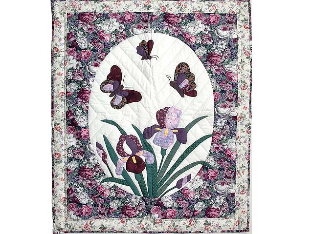 Iris Applique Wall Hanging Photo 1