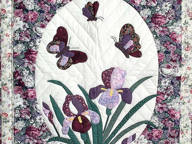 Iris Applique Wall Hanging Photo 2