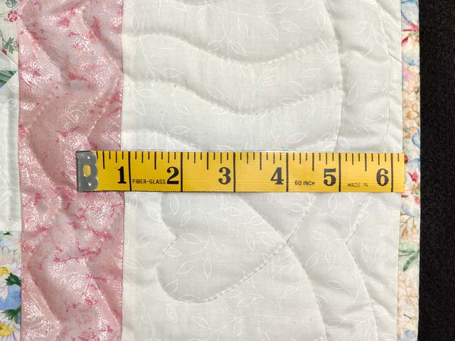Pastel Pink and Multicolor Pinwheel Crib Quilt Photo 5