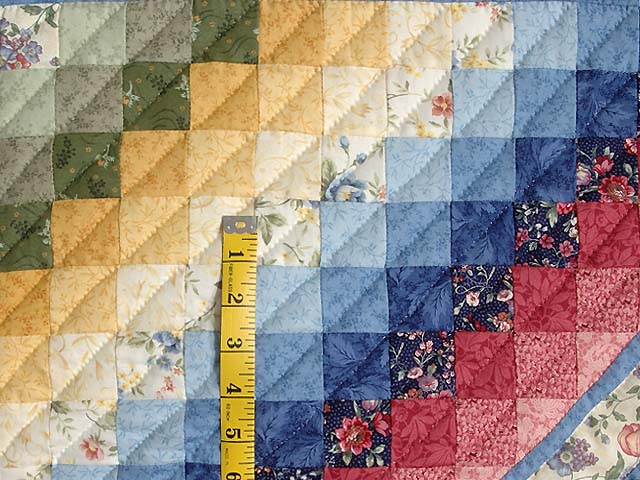 Pastel Blue ABC Crib Quilt Photo 4