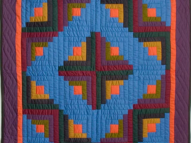 Amish Log Cabin Crib Quilt Photo 2