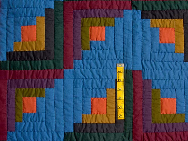 Amish Log Cabin Crib Quilt Photo 3